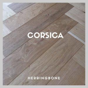CORSICA WIRE BRUSHED HERRINGBONE PARQUET FLOORING